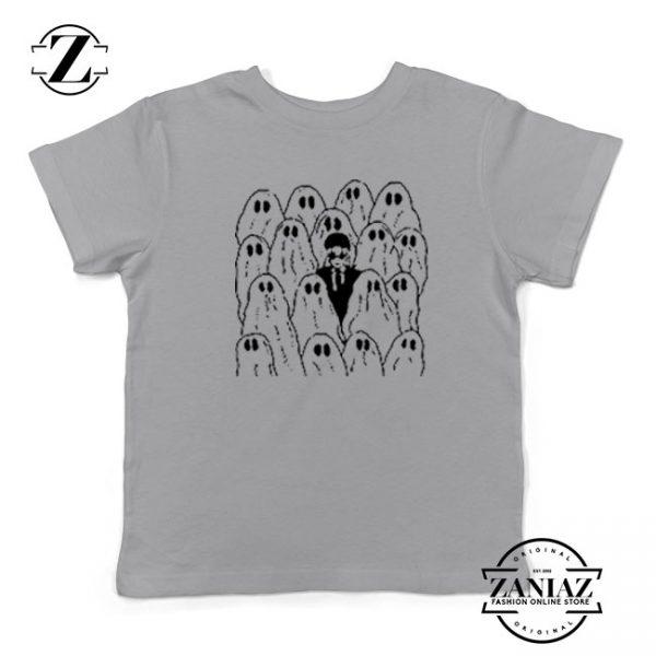 Phoebe Bridgers Ghost Kids Sport Grey Tshirt