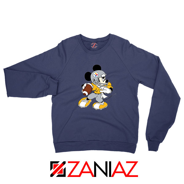 Pittsburgh Steelers Mickey Navy Blue Sweatshirt