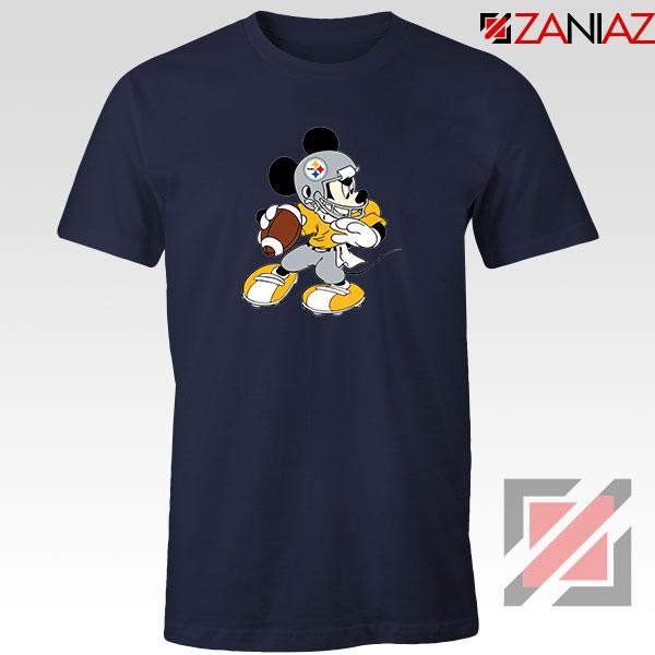 Pittsburgh Steelers Mickey Navy Blue Tshirt