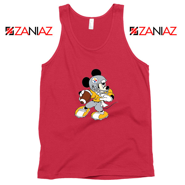 Pittsburgh Steelers Mickey Red Tank Top