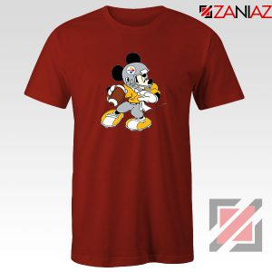 Pittsburgh Steelers Mickey Red Tshirt
