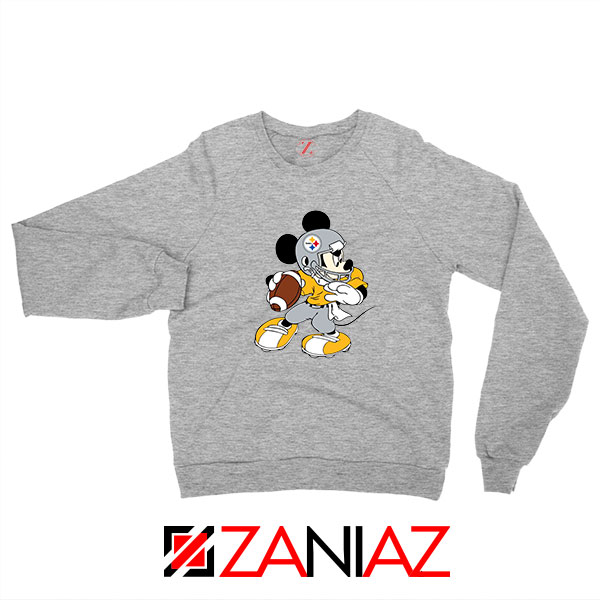Pittsburgh Steelers Mickey Sport Grey Sweatshirt