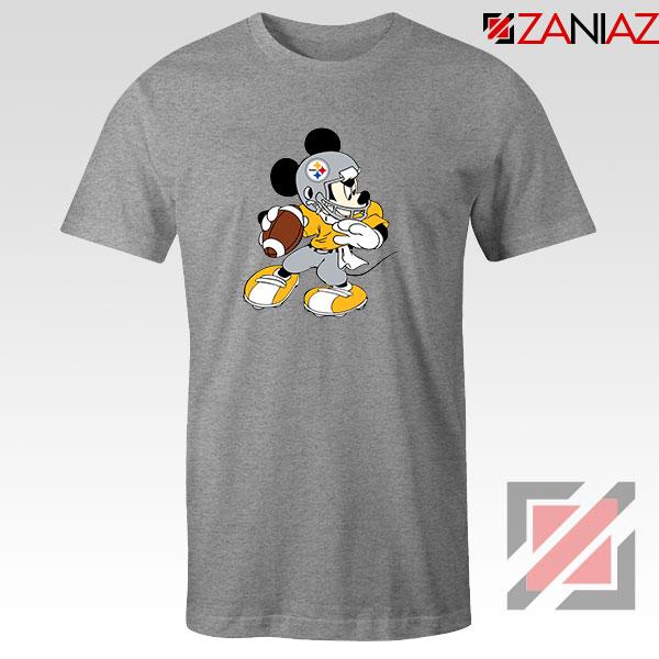 Pittsburgh Steelers Mickey Sport Grey Tshirt