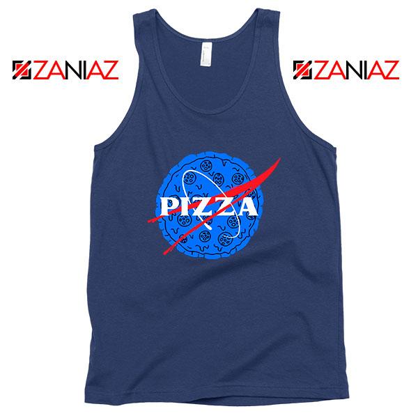 Pizza NASA Navy Blue Tank Top