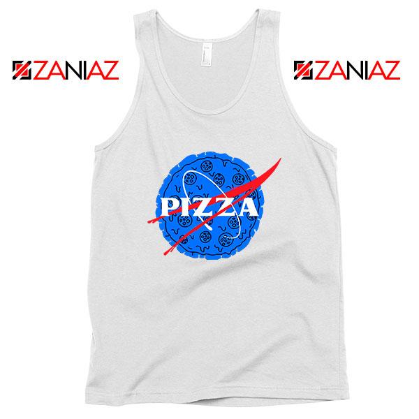 Pizza NASA White Tank Top
