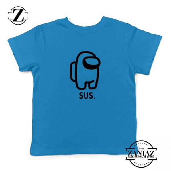 SUS Among Us Kids Blue Tshirt