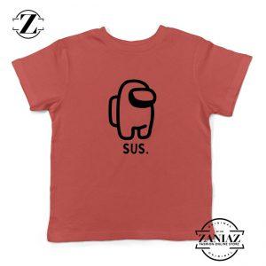 SUS Among Us Kids Red Tshirt