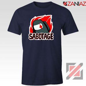 Sabotage Among Us Navy Blue Tshirt