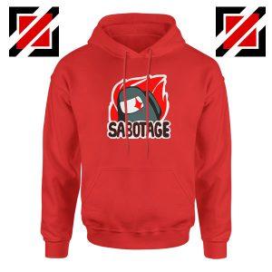 Sabotage Among Us Red Hoodie