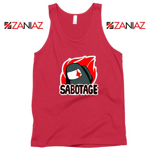 Sabotage Among Us Red Tank Top
