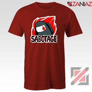 Sabotage Among Us Red Tshirt