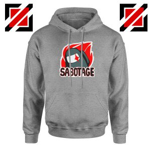 Sabotage Among Us Sport Grey Hoodie