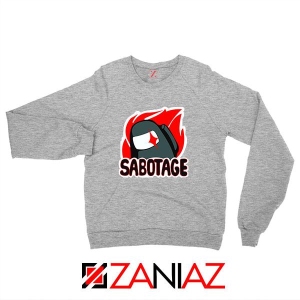 Sabotage Among Us Sport Grey Sweatshirt