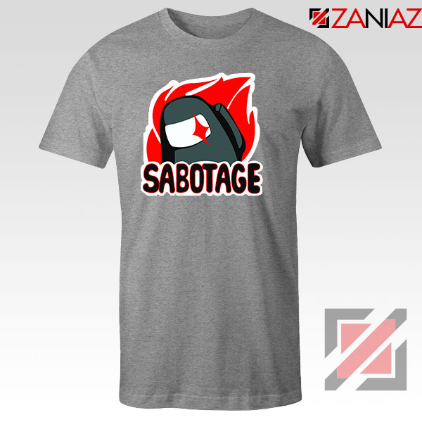 Sabotage Among Us Sport Grey Tshirt