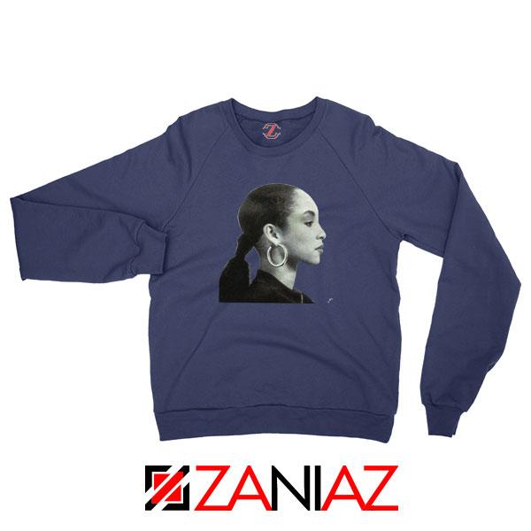 Sade Adu Singer Icon Navy Blue Sweatshirt
