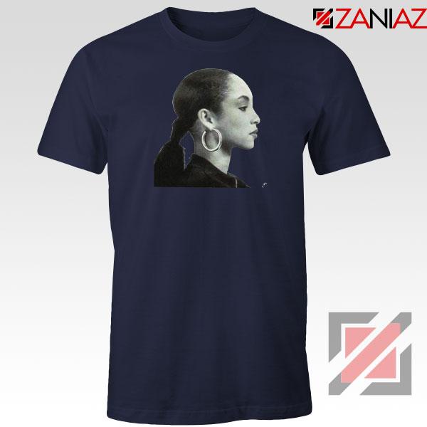 Sade Adu Singer Icon Navy Blue Tshirt