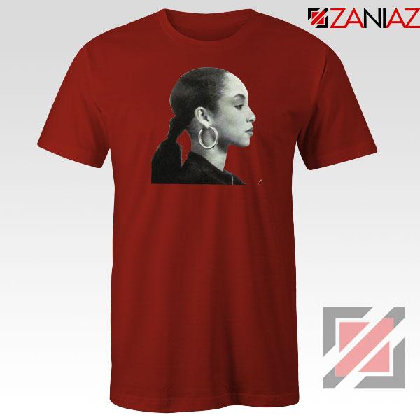 Sade Adu Singer Icon Red Tshirt