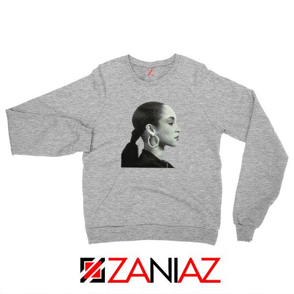 Sade Adu Singer Icon Sport Grey Sweatshirt