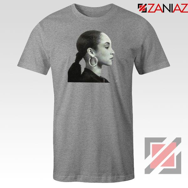 Sade Adu Singer Icon Sport Grey Tshirt