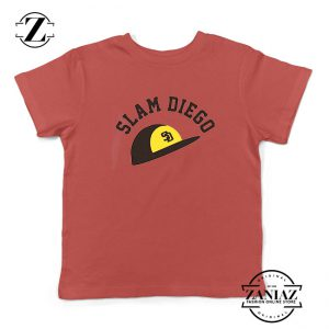 Slam Diego Team Kids Red Tshirt