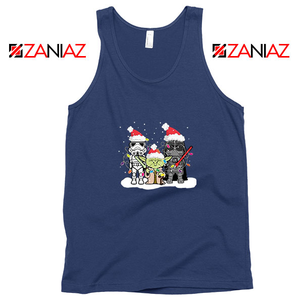 Star Wars Christmas Navy Blue Tank Top