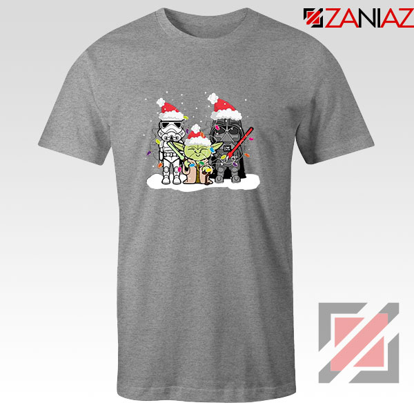 Star Wars Christmas Sport Grey Tshirt