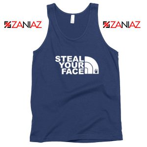 Steal Your Face Jam Band Navy Blue Tank Top