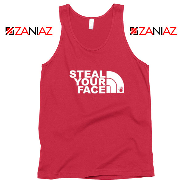 Steal Your Face Jam Band Red Tank Top