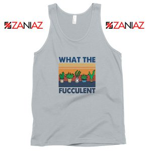 What The Fucculent Sport Grey Tank Top