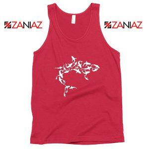 White Shark Lover Red Tank Top