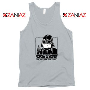 Darth Vader Face Mask Sport Grey Tank Top