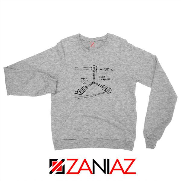 Flux Capacitor Sketch Sport Grey Sweatshirt