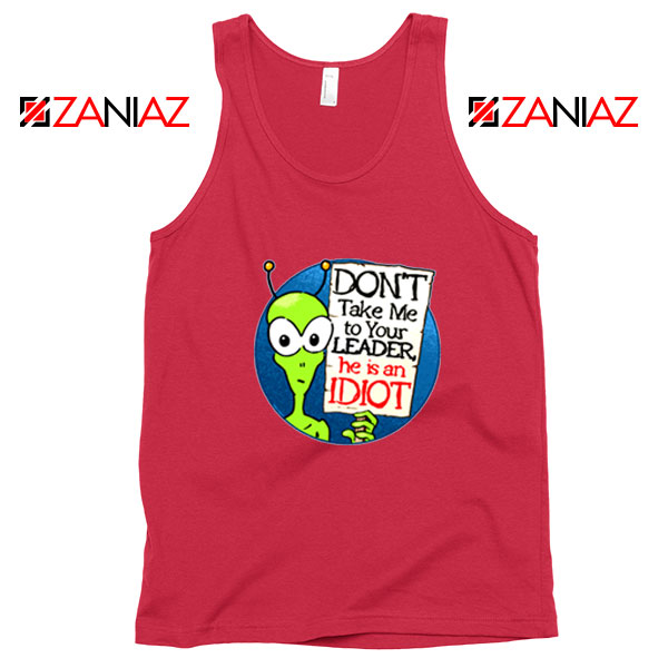 Government Aliens Red Tank Top