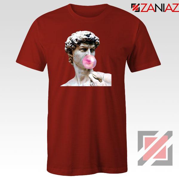 Greek Statue Red Tshirt