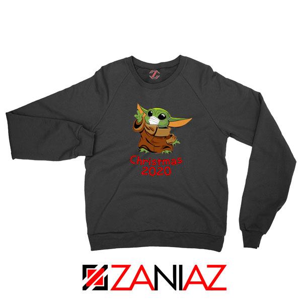 Grogu Mask Quarantine Black Sweatshirt