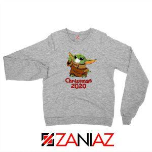 Grogu Mask Quarantine Sport Grey Sweatshirt