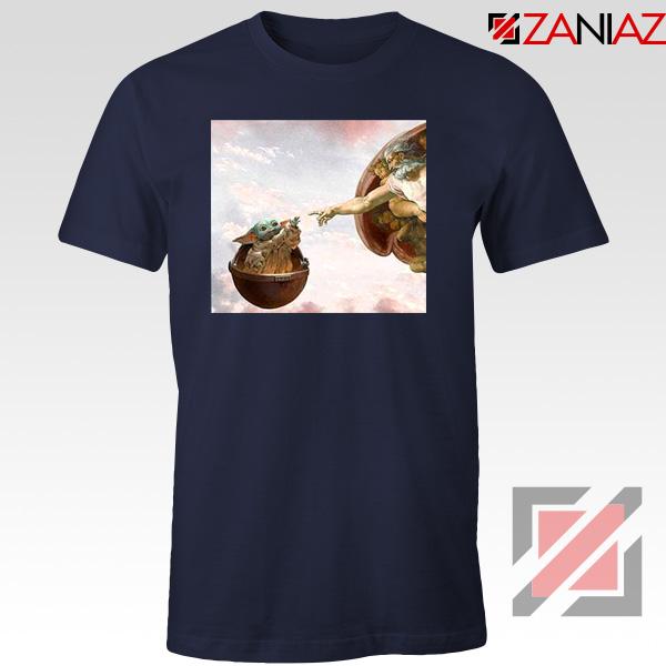 Grogu Renaissance Navy Blue Tshirt