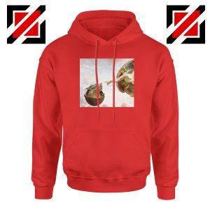 Grogu Renaissance Red Hoodie