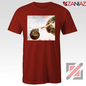 Grogu Renaissance Red Tshirt