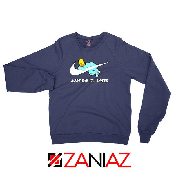 Homer Simpson Holiday Navy Blue Sweatshirts