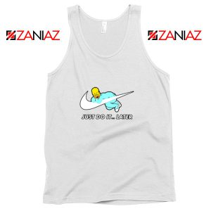 Homer Simpson Slogan Holiday White Tank Top