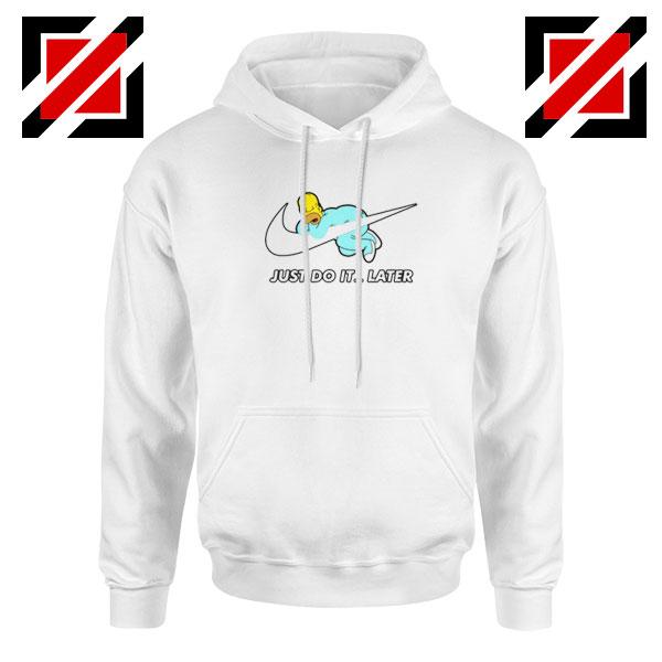 Homer Simpson Slogan White Hoodie