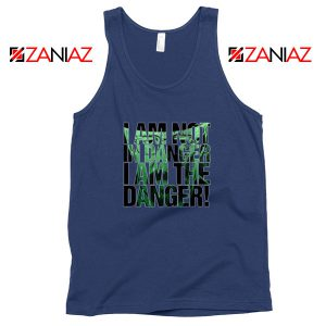 I Am The Danger Heisenberg Navy Blue Tank Top