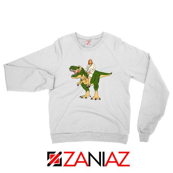 Jesus Riding T Rex Sweatshirt