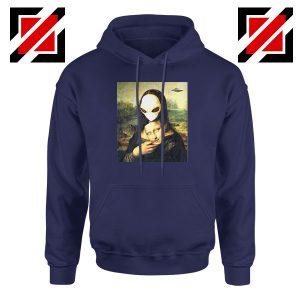 Mona Lisa Alien Navy Blue Hoodie