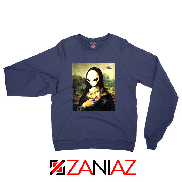 Mona Lisa Alien Navy Blue Sweatshirt