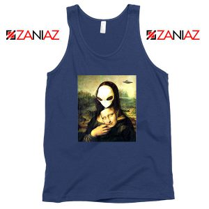 Mona Lisa Alien Navy Blue Tank Top