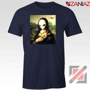 Mona Lisa Alien Navy Blue Tshirt