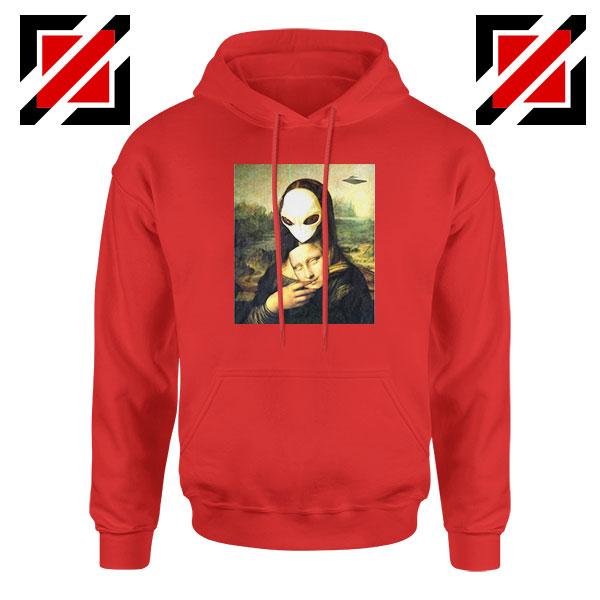 Mona Lisa Alien Red Hoodie