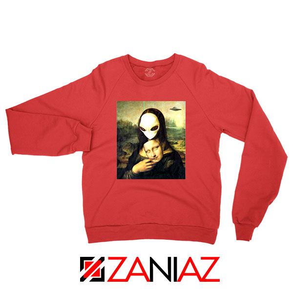 Mona Lisa Alien Red Sweatshirt